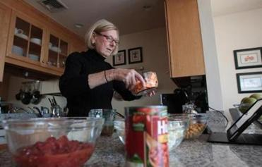 """I love everything that's good for me,'' says Jane Olszewski, an avid cook, about her healthy foods diet."